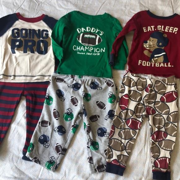 fbc5f6860 Carter's Pajamas | Carters Boys 18 Month Football | Poshmark